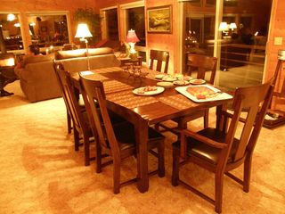 Sequim lodge photo - Dining Room Solid Wood Table Seats 12