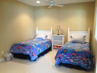 Manistee condo photo - Lower level bedroom w/ 2 twins