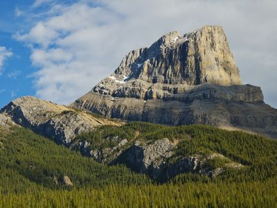 You will pass the beautiful Roche Miette Mountain along the way.