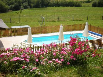 gites with pool, spa and private lake