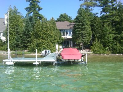 100 foot of lakefront, crystal clear water
