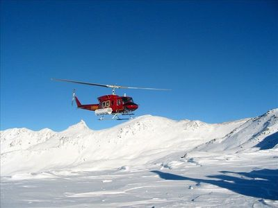 Some of the best helicopter skiing in the world, right from the back door