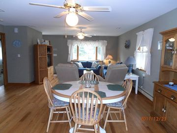 Dining area showing open floor plan