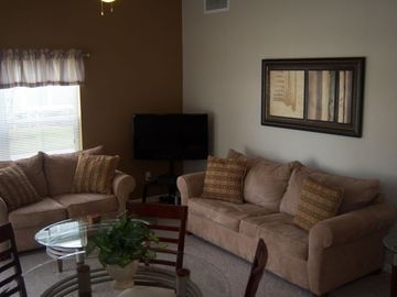 "Living area with 40"" Plasma TV"