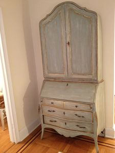 Upper East Side apartment rental - French hand painted armoire