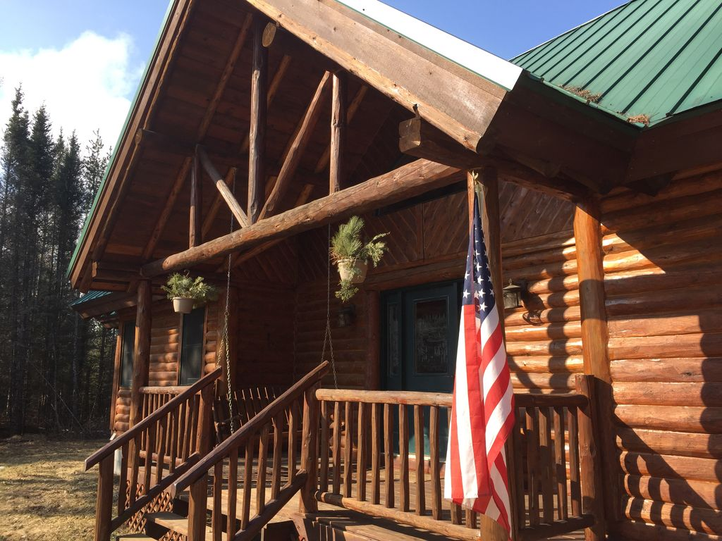 Dream log cabin on small river near many homeaway grayling - Small log houses dream vacations wild ...