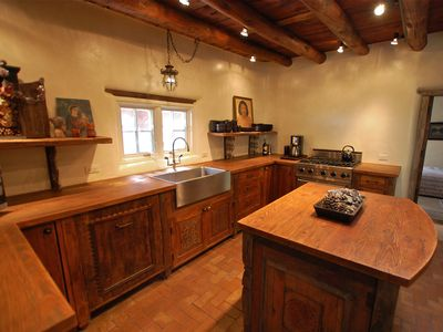 Santa Fe house rental - The Kitchen Features a Viking Range and Sub Zero Fridge and Freezer Drawers