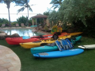On Site Rentals: Kayaks,Stand Up Paddle Board, Snorkel Gear,Surf & Boogie Boards