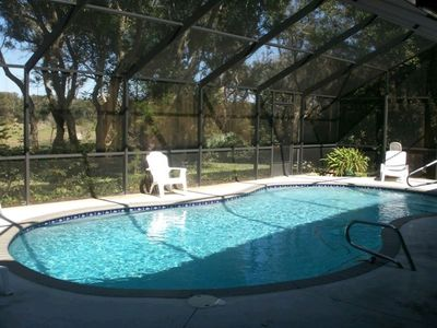Solar Heated Screened Private Pool and Huge Garden