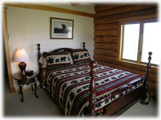 Bozeman house photo - Guest bedroom - The other main level bedroom with a queen size bed