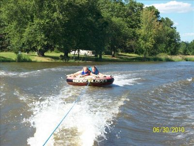 We can provide tubing or water skiing service.