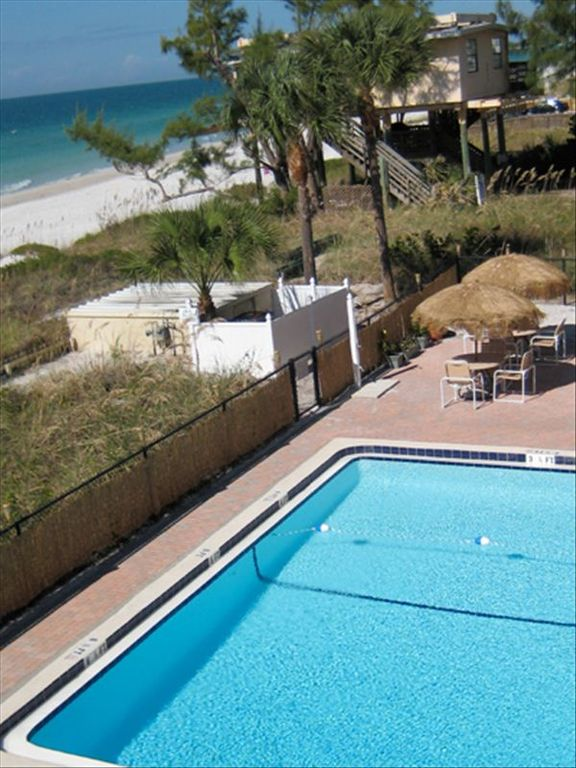 Heated pool and beach awaits