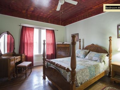 Bedroom #2 with early 20th century bed