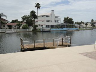 Hernando Beach house photo - Park your boat or water toy, fish or just relax and watch the boats go past!