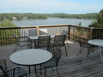 View of deck and Wildwood Lake