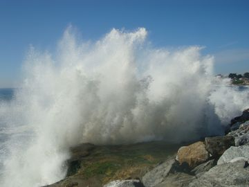 Sometimes the waves get huge and we can hear them from West Cliff Hideaway!