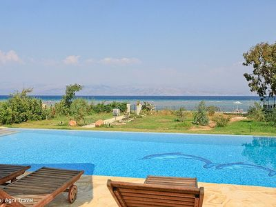 Corfu villa rental - Beachfront villa with private pool