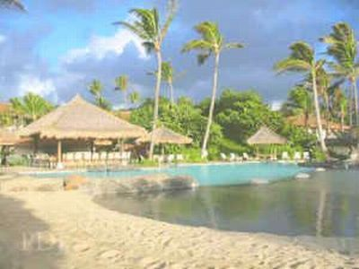 Lihue hotel rental - Sand-bottomed Pool (designed like a beach shore)