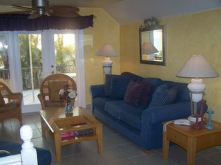 Upstairs living area also has cable tv/VCR combo - Fort Myers Beach house vacation rental photo
