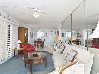 Flagler Beach house photo - The elegant and cool-toned living room, nicely furnished.