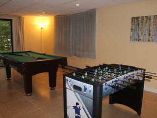 Big Bass Lake house photo - Pool table and foosball table in the family room