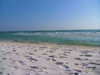 White sand and beautiful turquoise-blue water. - Santa Rosa Beach condo vacation rental photo