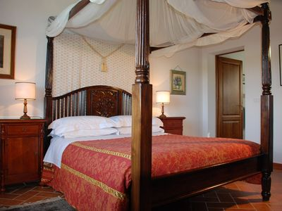 La Colonica Bedroom: Four Poster bed