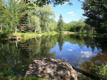 Lovely pond right outside your front door!