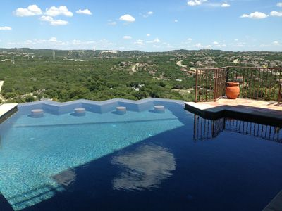 Incredible views from the relaxing negative edge pool