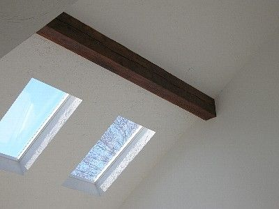 Skylight in the living room makes the room bright all day.