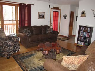 Dillsboro cabin photo - Living Room Looking Toward Front Door.