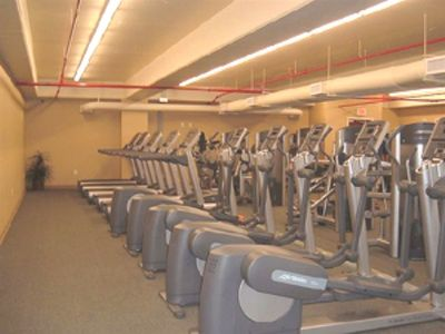 State of the art fitness center! Saunas, steamrooms, massage by appt. Fee req.