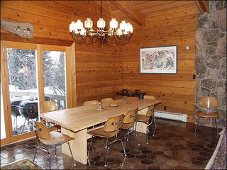 Snowmass Village house photo - Spacious eating area with vaulted ceiling
