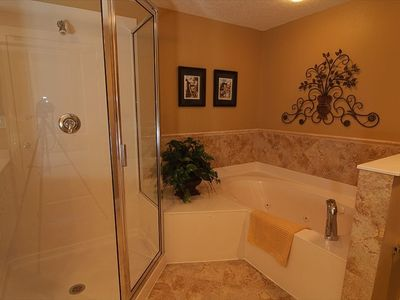 Master Bathroom, Jetted Whirlpool Tub, Separate Shower