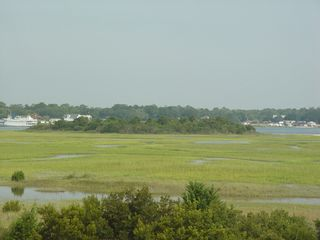 Holden Beach house photo - View of sound from Master BR porch and 2d flr. BR