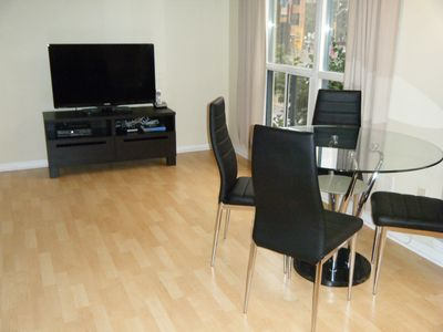 Dining & Entertainment area with LED HDTV