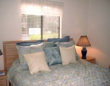 Master bedroom with king size bed, 2 night stands, reading lights, TV w/dvd.