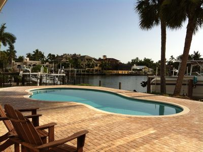 Pool and wide canal - fish off dock and watch occasional dolphin swim by