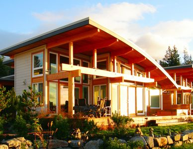 Sechelt house rental - Exterior shot of our Zen Beachhouse