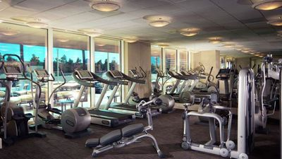 Health club featuring state-of-the-art Technogym machines