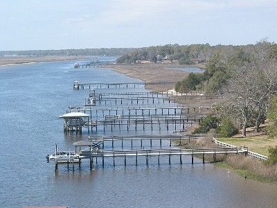 Picture of Intracoastal waterway from New Sunset Beach bridge!