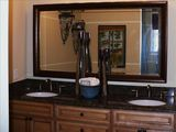Master bath double sinks with granite tops