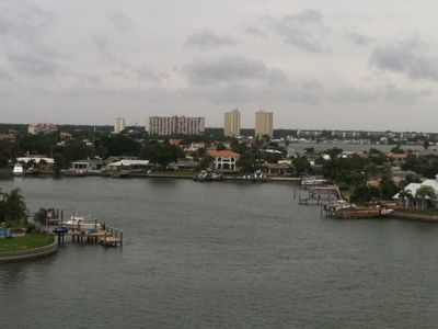 Panoramic Views of Boca Ciega Bay from the balcony