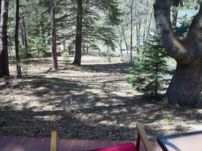 Green Valley Lake cabin rental - Patio View