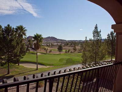 Watch Golfers From The Backyard, & Amazing View Of The Strip!