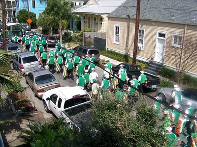 St. Patricks Day - looking out the window.