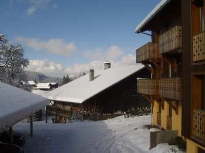 Recently converted family ski apartment in wonderful alpine village setting