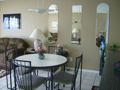Madeira Beach condo rental - dining table to enjoy your meals