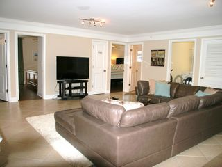 Crescent Beach villa photo - Upstairs living area with 55 inch Sony TV with HD cable box and blue ray dvd.