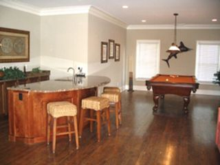 Isle of Palms house photo - Pool Table & Bar Area on 2nd Floor next to Living Room